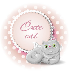 cute cat angel vector image