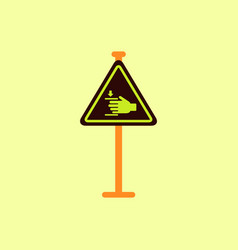Hand drawn at car barrier road sign entrance by vector