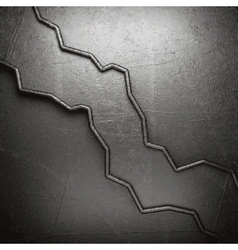 Metal on wall background vector