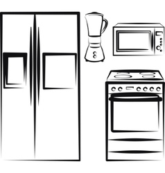 Kitchen electronics vector