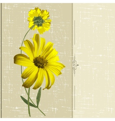 Yellow flowers vector