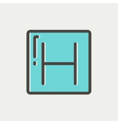 Hospital thin line icon vector
