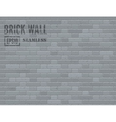 Gray brick wall vector image