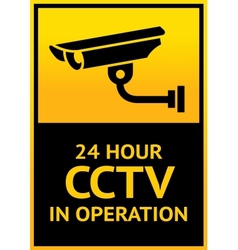 Sign security camera vector image