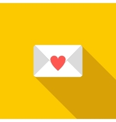 Love letter icon flat style vector