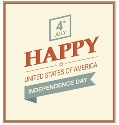 Retro printing card for independence day vector