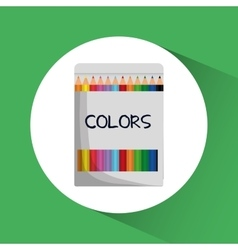 Colors icon education concept flat vector