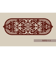 The template pattern for cutting decorative panel vector image