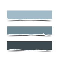 Set of three torn paper banners vector