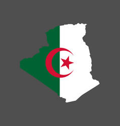 algeria flag map vector image vector image