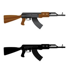 Assault rifle ak 47 vector