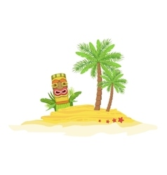 Beach hawaiian vacation classic symbol vector