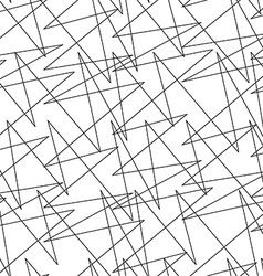 Black and white abstract lightning random lines vector