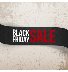 Black friday sale bend ribbon vector
