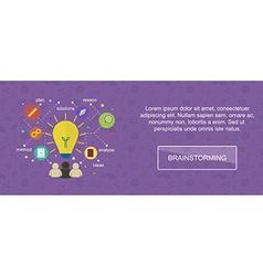 Brainstorming ideas banner vector