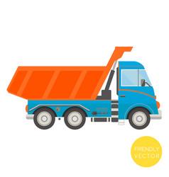 cartoon transport dump truck vector image