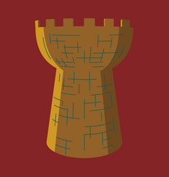 Castle tower medieval ancient fortress isolated vector