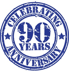 Celebrating 90 years anniversary grunge rubber sta vector image vector image