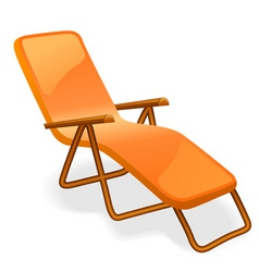 chaise longue isolated on a white background vector image