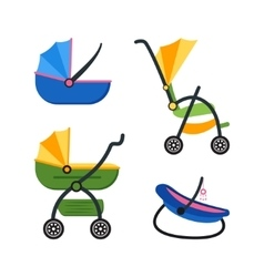 Classic Baby Carriage Set vector image