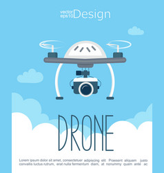 concept of the flying drone with the camera vector image