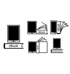 Electronic book concept vector