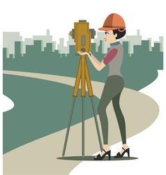 Female engineer vector