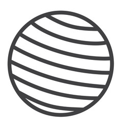 fitness rubber ball line icon fitness and sport vector image vector image