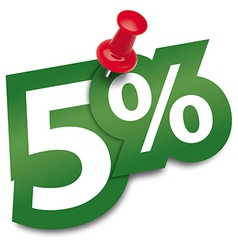 Five percent sticker vector image