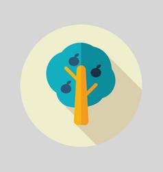 Fruit tree flat icon vector
