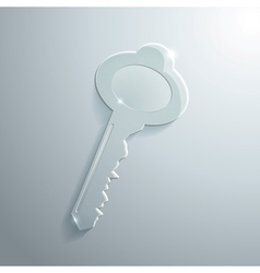 Glass Key vector image