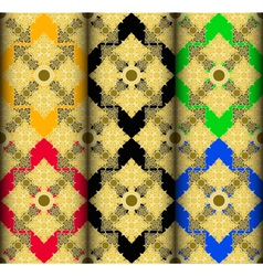 Gold thai style complex pattern vector