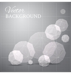 Gray blueprint if geometrical figure vector