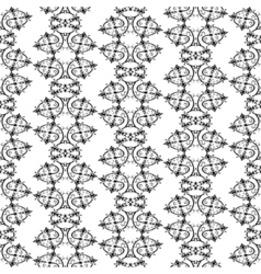 Hand-drawn abstract black and white seamless vector image