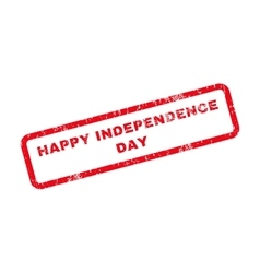 Happy independence day text rubber stamp vector