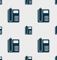 home phone icon sign Seamless pattern with vector image