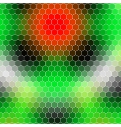 honeycomb - colored abstract geometric hexagon vector image vector image