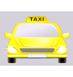isolated car with taxi sign vector image vector image