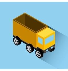 isometrics truck design vector image