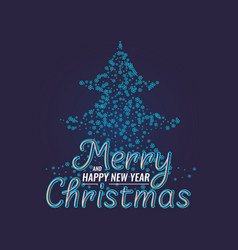 merry christmas and happy new year modern hand vector image vector image