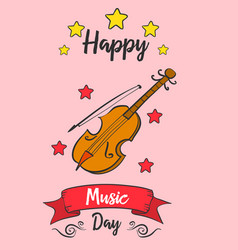 Music day card art doodles vector