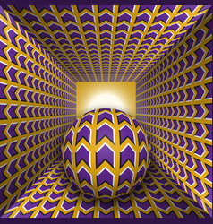 Optical motion a sphere are moving vector