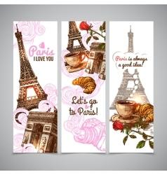 Paris Vertical Banners vector image vector image