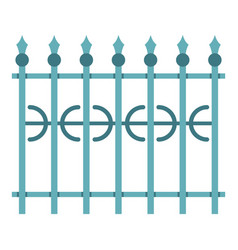 Park fence icon isolated vector