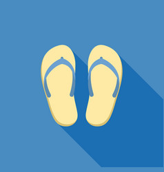 sandal for summer icon vector image vector image