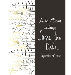 Save the Date Invitation Card Template with vector image vector image