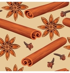 Seamless mulled wine spices vector