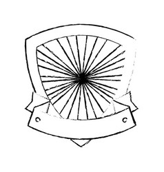 shield frame icon vector image vector image