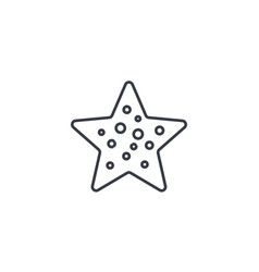 Starfish thin line icon linear symbol vector