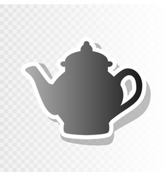 tea maker sign new year blackish icon on vector image